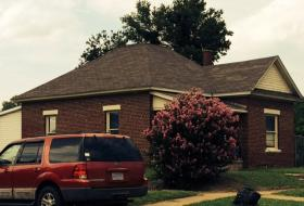 The fatal shooting took place on this dead end street west of Tulsa's IDL