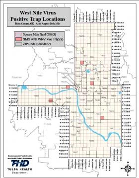 Map of West Nile Locations