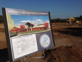 Spring Lake Municipal Complex is one of two developments Sand Springs city officials broke ground on Tuesday morning. The project is west of 129th West Avenue at 46th Street, and it will house the city's public works and maintenance departments.