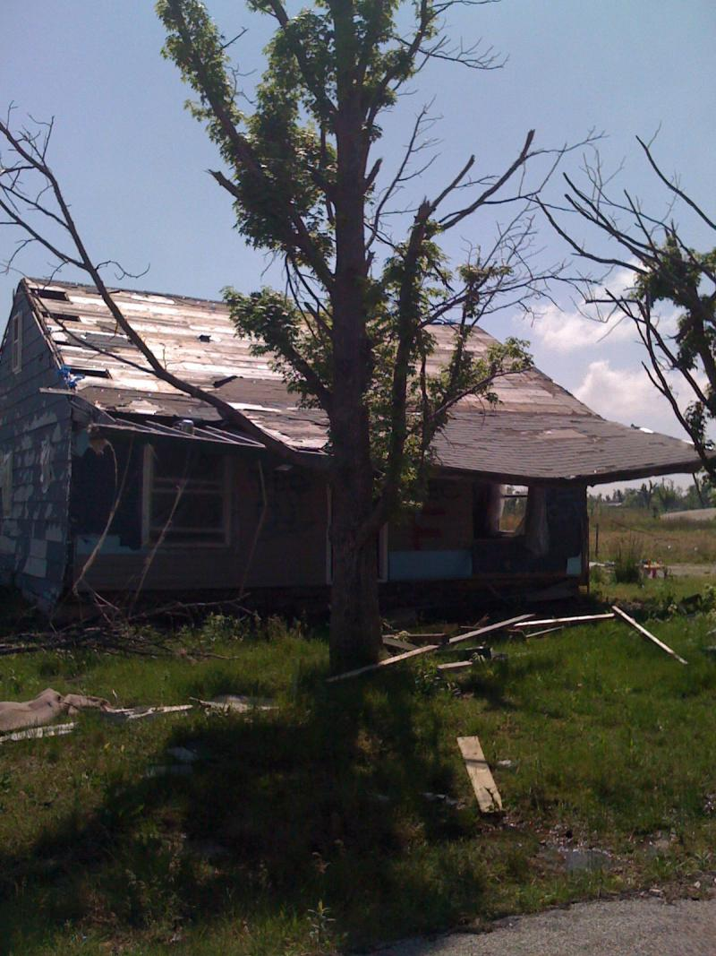 One of the tornado damaged homes that will not be repaired in Picher, Oklahoma.