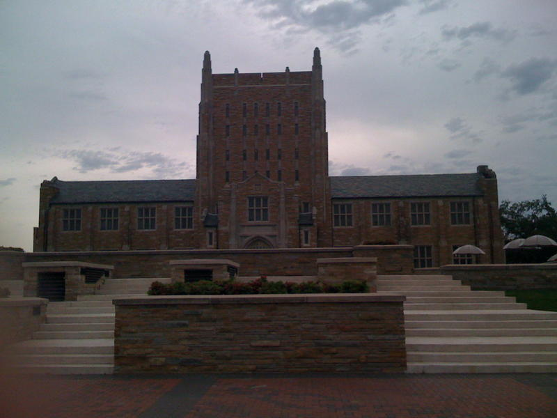 The McFarlin Library on the campus at the University of Tulsa.