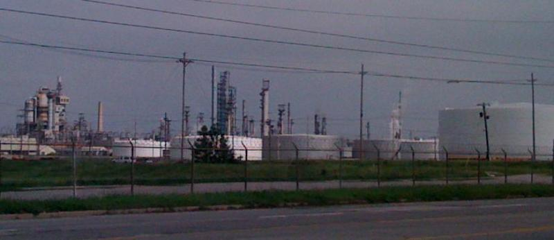 Tulsa's Sinclair Refinery along Southwest Blvd. in West Tulsa