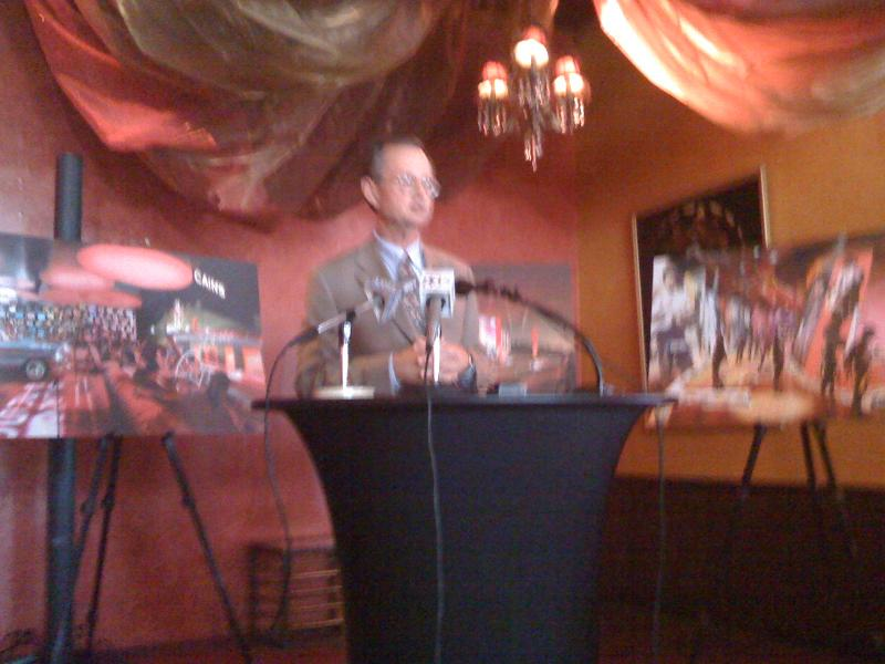 Bob Blackburn of the Oklahoma Historical Society makes the Tulsa museum announcement.