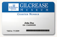 A Gilcrease Museum membership card.