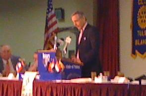 George Kaiser addressed the Tulsa Rotary Club