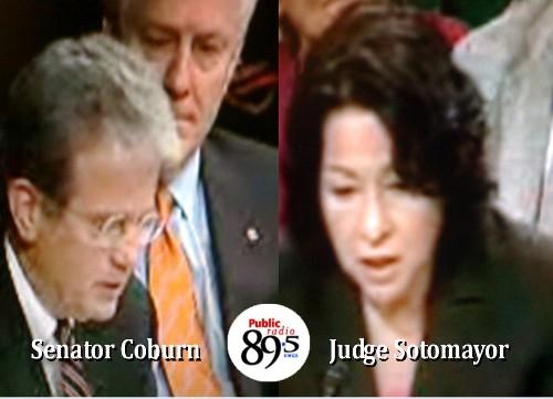 Senator Tom Coburn (R-OKLA) questions Supreme Court Nominee Judge Sotomayor