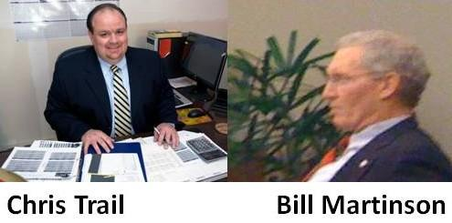 Republican candidates Chris Trail and Bill Martinson.