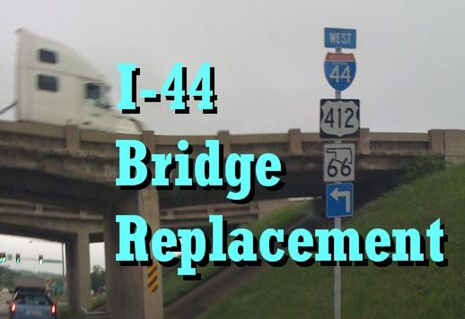 The above bridge at I-44 and 193rd East Avenue is being replaced