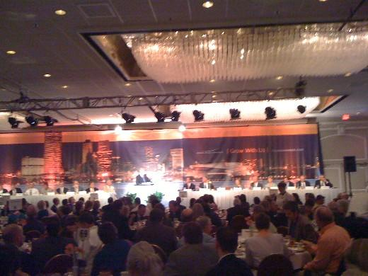 Governor Henry addresses over 600 people at the Tulsa Chamber of Commerce luncheon
