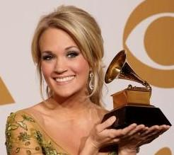 Carrie Underwood  and her Grammy Award