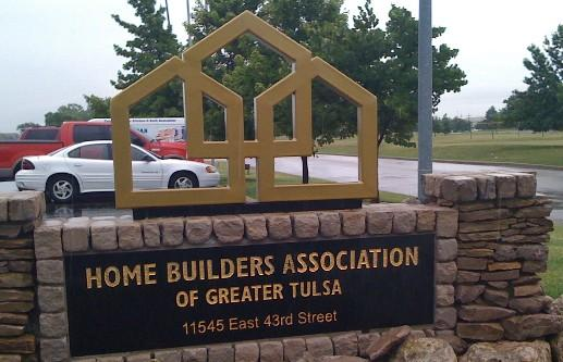 The sign in front of the Home Builders Association of Greater Tulsa.