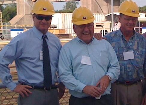 L-R: Congressman John Sullivan, Port Director Bob Portis and U.S. Senator Jim Inhofe