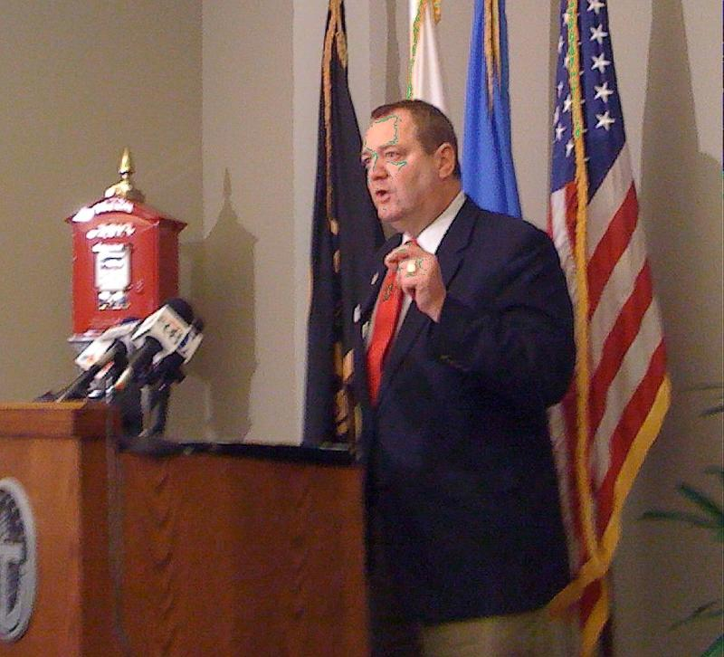 Council Member John Eagleton says the fire fighters union is violating the Hatch act.