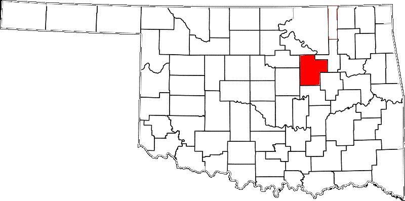 Creek County is southwest of Tulsa.