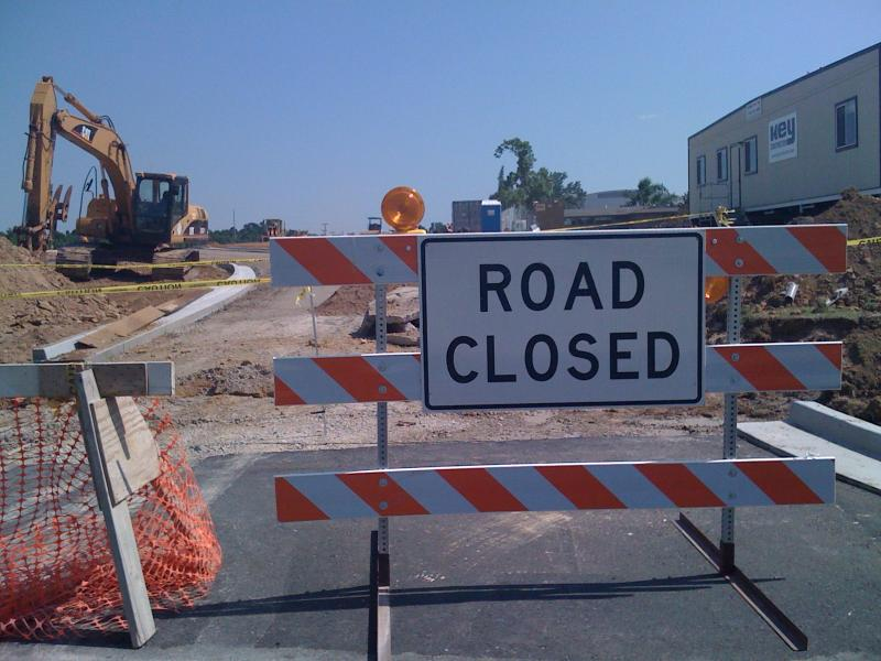 Road Construction work came to a halt in Tulsa following the Grand Jury indictments.