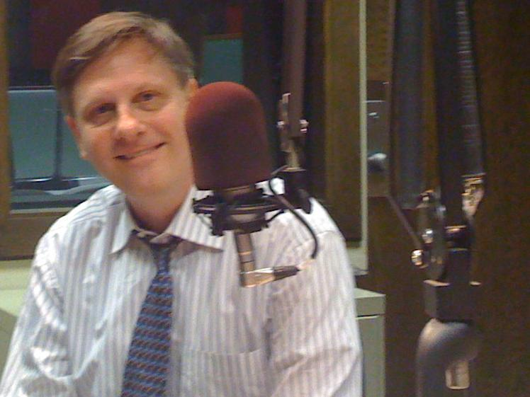 Dr. Spoo in the KWGS Studio