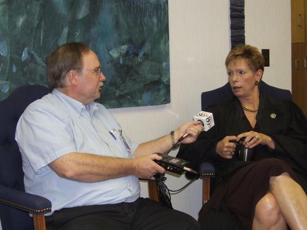 Marshall Stewart interviews Judge Doris Fransein.