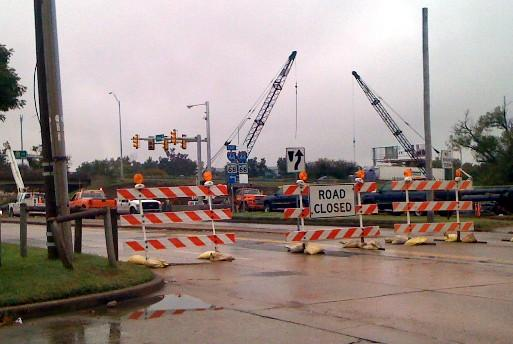 South Peoria Avenue is closed at 51st Street and I-44.
