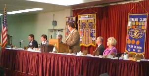 KWGS' John Durkee moderates a live debate with the mayoral candidates.