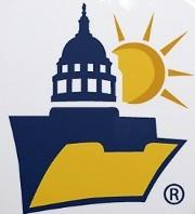 "The logo for the open records organization sponsoring ""Sunshine Week.\"""