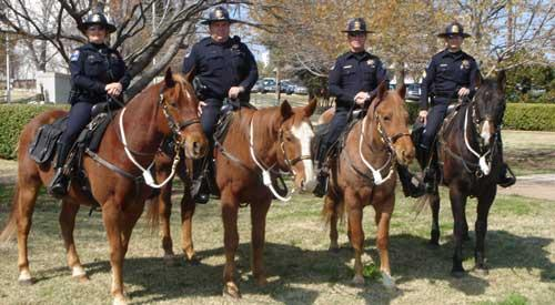 The Tulsa Police Mounted Patrol.