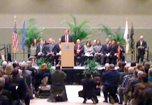 Mayor Bartlett addresses the crowd just before becoming Tulsa's 39th Mayor.