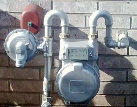 An ONG gas meter outside of a home in south Tulsa County.