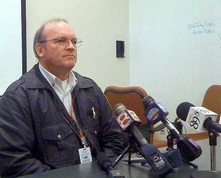 Tulsa Fire Chief Allen LaCroix discusses the latest proposal with reporters.