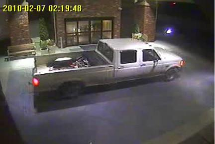 Police believe this pick-up was involved in the trailer thefts.
