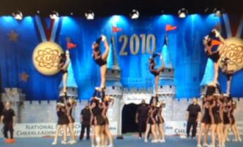Union Cheerleaders perform at National Championship.
