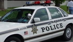 A Tulsa Police car.