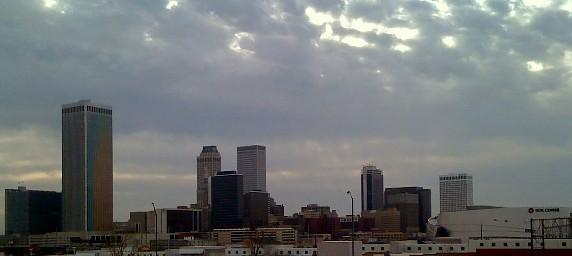 Downtown Tulsa as viewed from the IDL.