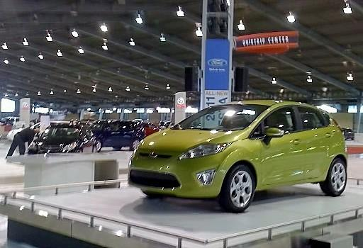 A 2011 Ford Fiesta is on display at the International Auto Show