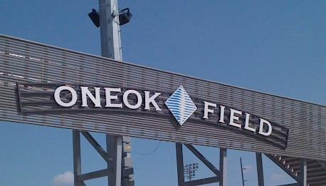 The entrance to ONEOK Field