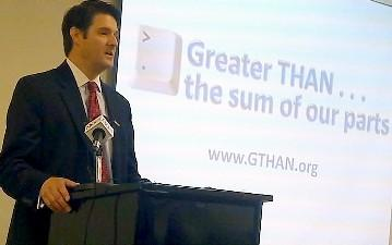 Dr.David Kendrick announces the grant in a Tulsa news conference.