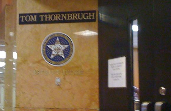 Judge Thornbrugh's courtroom