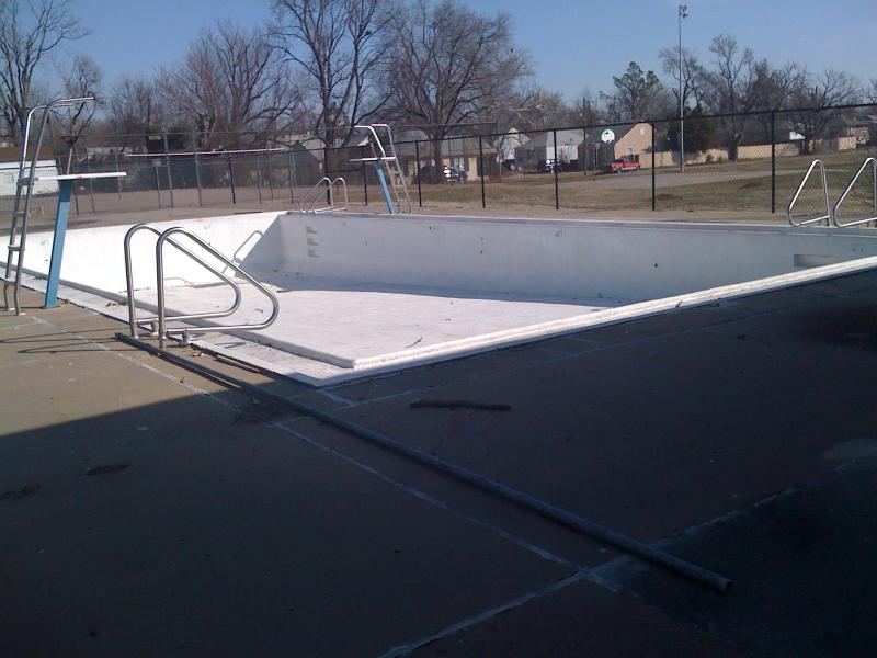 One of Tulsa's closed municipal pools.