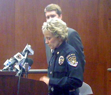 News conference where BA Police announced Polk's arrest.
