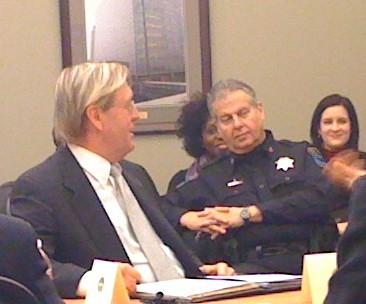 Terry Simonson at a recent council meeting.