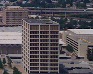 Airview of old Tulsa City Hall.