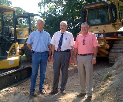 L-R: Tulsa City Councilor Bill Christiansen, County Commissioner Fred Perry, Bixby Mayor Ray Bowen at 111th and South Sheridan intersection.