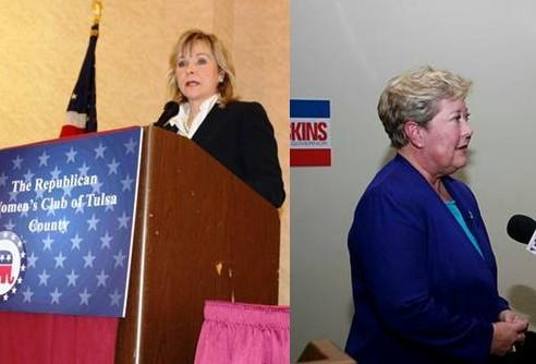 Mary Fallin and Jari Askins are the GOP and Democrat nominees for Governor