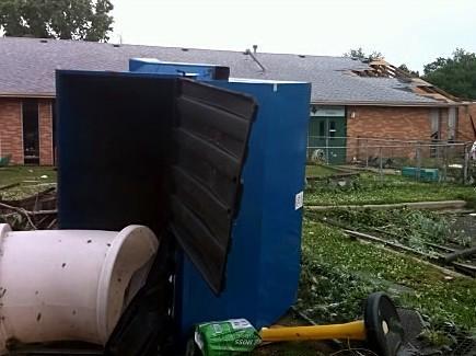 Storm damage in Tulsa