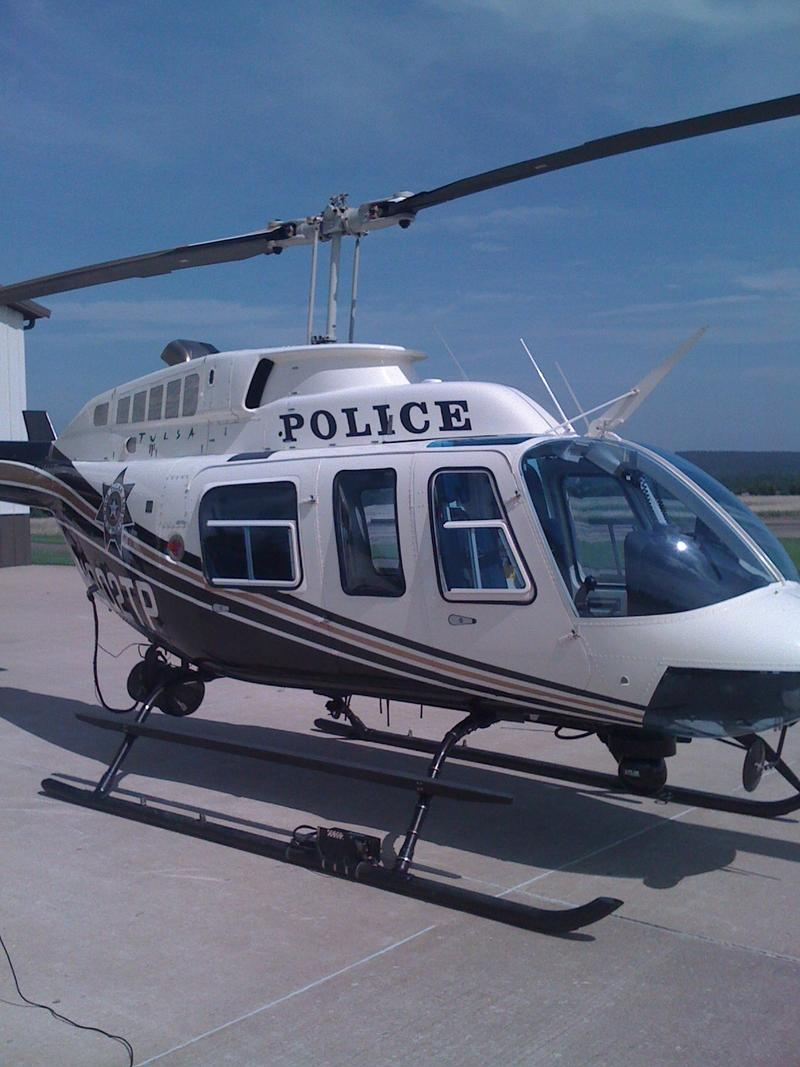 One of Tulsa's two police helicopters.