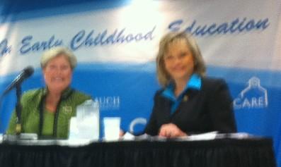 Democrat Jari Askins and Republican Mary Fallin take part in Tulsa forum.