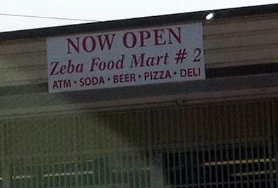 Shooting took place at Zeba Food Mart.