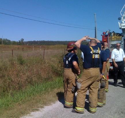 Tulsa Fire Fighters responded to the plane crash scene in Creek County.