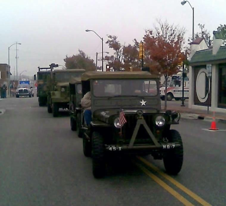 A Military Jeep in the annual Veterans Day Parade in Tulsa.