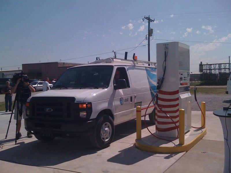 Truck at a Tulsa CNG Pump