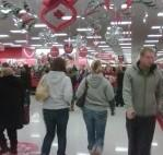 Shoppers at the 101st and Memorial Target Store in Tulsa at 4:15 in the morning.
